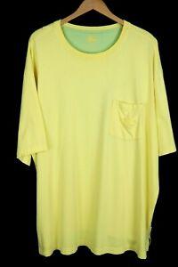 Tommy Bahama Relax Mens Sz 2XT Yellow Short Sleeve Pocket T-Shirt