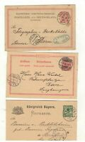 GERMANY 13 x CORRESPONDENCE POSTCARDS. 1880-1896 SEE PICTURES