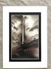 Japanese Art Print Kazuho Hieda Waterfall Mist Nihonga Contemporary Art Modern