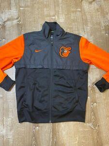 Nike MLB Baltimore Orioles Full Zip Track Jacket Lightweight windbreaker Men M