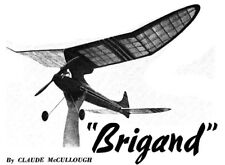 """Model Airplane Plans (FF): Brigand OT Class C 64"""" Wingspan by Claude McCullough"""