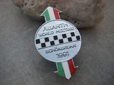 very rare ABARTH WORLD MEETING GERMANY SCHÖNBRUNN 1991 enamel Car Badge