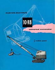 Ruston Bucyrus 10RB Shovel Dragline Sales Book