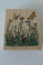 Stampabilities House Mouse Butterfliers Amanda Maxwell  Rubber Stamp Unused 1992