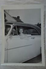 Vintage Car Photo Pretty Girl in Window 1950 Pontiac 839