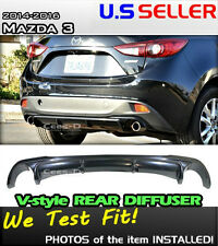 14 15 16 MAZDA3 MAZDA 3 HATCH JDM V_style Diffuser Rear Lip Body Kit (ABS)