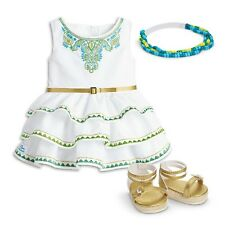 American Girl 2016 Doll Of Year Lea's Celebration Dress Shoes Headband Outfit