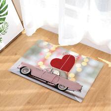 """Large Heart On Car For Love Non-slip Bathroom Rugs Door Mat Carpet 16X24"""""""
