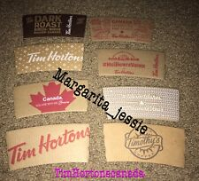 TIM HORTONS COFFEE SLEEVES CANADA FRENCH COLLECTIBLE LOT OF 8 HTF RARE