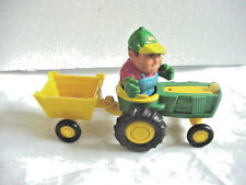 JOHN DEER TODDLER TOYS  TRACTOR WAGON AND FARMER