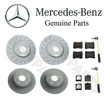 Mercedes W203 C230 C280 Front & Rear Brake Discs Pads and Sensors KIT Genuine