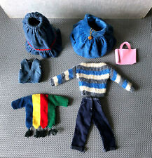 Ideal Tammy Doll Clothing Lot 15pc Clothes Denim Skirt Dress Dad Sweater 1960s