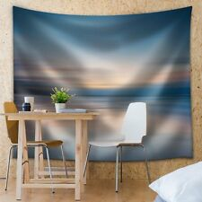Blurred Out Sunset That is Being Reflected on the Ocean - Fabric Tapestry -51x60