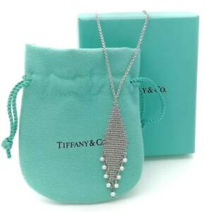Tiffany & Co. Somerset Pearl Drop Necklace Sterling Silver 925