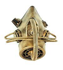 Steampunk Led Light Gas Mask Respirator Gear Tube Punk Goth Burning man Gold