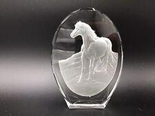 DANBURY MINT PHILIP NATHAN HORSE GLASS PAPERWEIGHT (694)