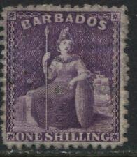 Barbados 1875 1/ purple unused no gum