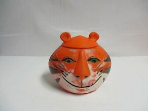 Vintage 1968 KELLOGGS TONY THE TIGER Cookie Jar Cereal plastic Container