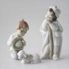 Lladro Hirten Schäfer Lamm Miniaturen Krippenfiguren 1991 # 5809 Holy shepherds