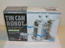4M Green Science Tin Can Robot Fun Mechanics Kit Educational New Sealed