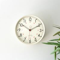 Metal Wall Clock Retro Large Round Home Office Bedroom Kitchen Work - Cream