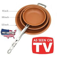 New Sweettreats Non Stick Copper Frying Pan with Ceramic Coating and Induction