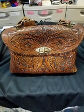 Vintage hand tooled leather handbags