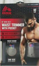 Rbx Waist Trimmer Belt with Cell Phone Pocket! Sculpts Tones Supports Ships Free
