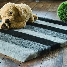 Vetbed Drybed 100x75cm PET ISOFLOOR grau/schwarz gestreift Hundedecke Hundebett