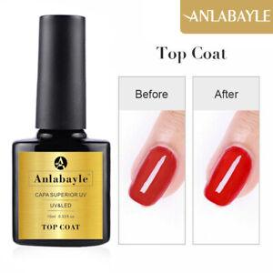 Anlabayle 10ml Gel Nail Polish Soak Off UV LED Base And Top Coat Gel Lacquer Art