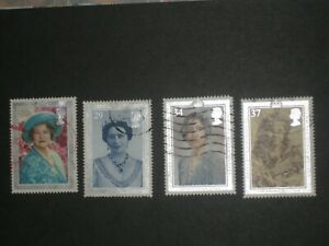 Royalty, GB stamps, Royals, Queen, Diana, Queen mother, 13 stamps
