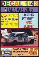 DECAL 1/43 LADA VAZ 2105 JACQUES POTHERAT PARIS DAKAR 1983 (01)
