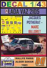 DECAL 1/43 LADA VAZ 2105 JACQUES POTHERAT PARIS DAKAR 1983 (01)