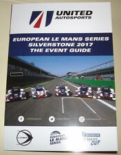 Le Mans WEC - ELMS 2017 Silverstone - United Autosport Press Media Guest Booklet