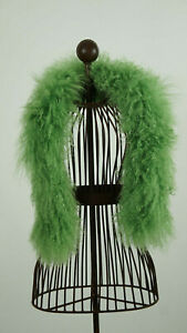 Schal aus echtem Tibetlamm 90cm lang Farbe Grün