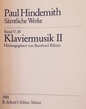 PAUL HINDEMITH Complete Works Series V Chamber Music vol 10 PIANO Music