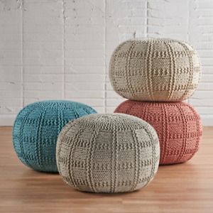 Handcrafted Modern Fabric Ottoman- Pouf by Christopher Knight Home - Yuny
