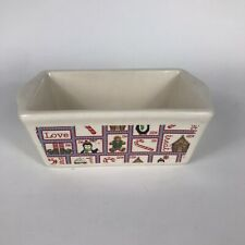 """Rare""-Nantucket Pottery Small Loaf Baking Dish-5"" x 3""-Love Christmas-Casserole"