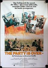 The Party is over Filmposter A1 More American Graffiti Candy Clark, Bo Hopkins