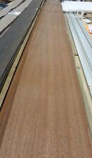 "African Sapele Mahogany Flat Cut wood veneer 9"" x 99"" raw no backing 1/42"" thick"