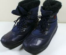 Women's Sorel Blue Duck Faux Fur Insulated Winter Ankle Boots Snow Size 8 Canada