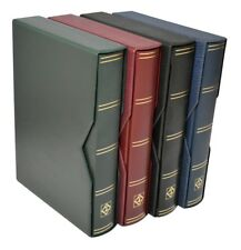 Lighthouse A4 Luxury Leather Stockbook incl slipcase 64 Black pages