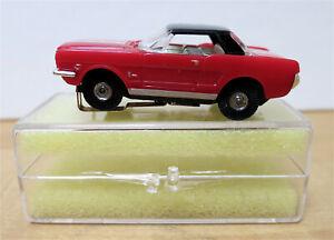 MODEL MOTORING HO 1965 FORD MUSTANG HARDTOP + Thunderjet 500 Chassis & Case