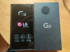 "New LG G6 H873 Pie Black 32GB  5.7"" QHD 13MP WIFI NFC GPS Unlocked Smartphone"