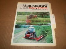 PY104) Bush Hog Sales Brochure 4 Pages - SM-60 Side Mount Rotary Cutters