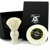100% Original Badger Hair Pure white Shaving Brush with Saving Soap