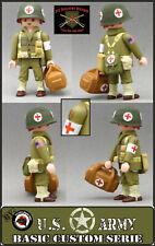 Playmobil Personnalisé WW2 Sanitaire USA Médical Croix Rouge Army American Soudé