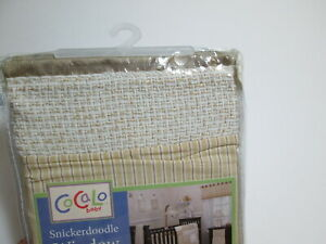 """NEW COCALO BABY Snickerdoodle WINDOW VALANCE 36""""x48"""" ~ ivory, light brown NIP"""