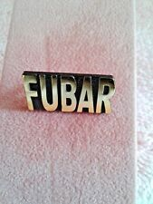 VETERAN HAT PIN -  FUBAR