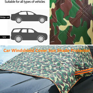 Camouflage Car SUV Windshield Cover Sun Shade Protector Winter Dust Frost Guard